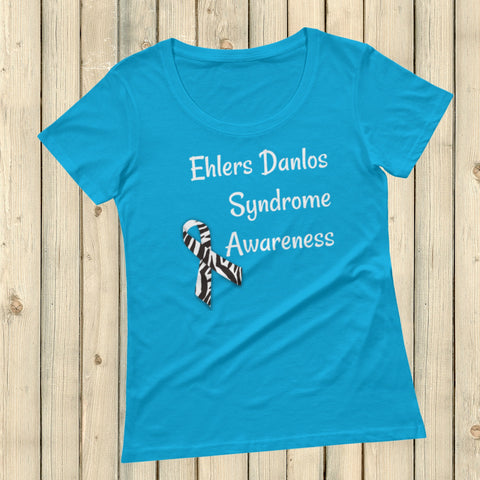 Ehlers Danlos Syndrome EDS Awareness Scoop Neck Women's Shirt - Choose Color - Sunshine and Spoons Shop