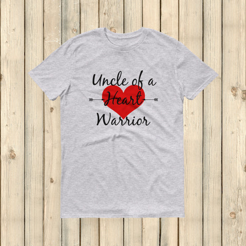 Uncle of a Heart Warrior CHD Heart Defect Unisex Shirt - Choose Color - Sunshine and Spoons Shop