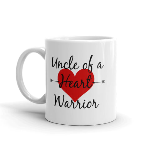 Uncle of a Heart Warrior CHD Heart Defect Coffee Tea Mug - Choose Size