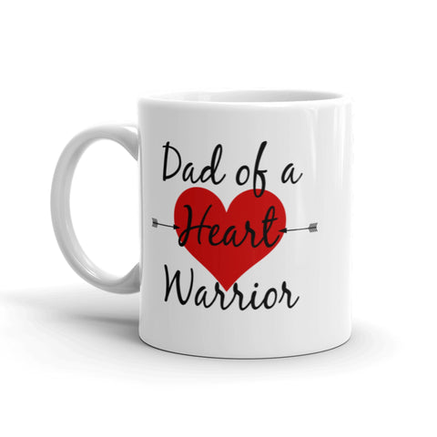 Dad of a Heart Warrior CHD Heart Defect Coffee Tea Mug - Choose Size - Sunshine and Spoons Shop