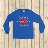 Dad of a Heart Warrior CHD Heart Defect Unisex Long Sleeved Shirt - Choose Color - Sunshine and Spoons Shop