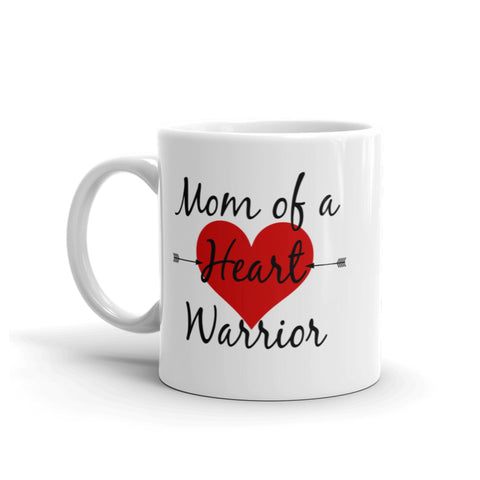 Mom of a Heart Warrior CHD Heart Defect Coffee Tea Mug - Choose Size