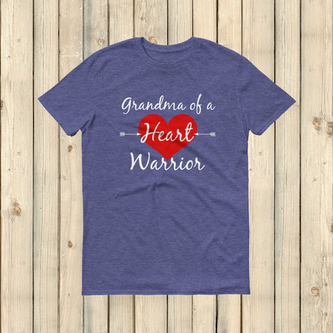 Grandnma of a Heart Warrior CHD Heart Defect Unisex Shirt - Choose Color