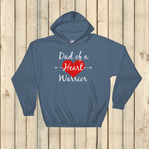 Dad of a Heart Warrior CHD Heart Defect Hoodie Sweatshirt - Choose Color - Sunshine and Spoons Shop