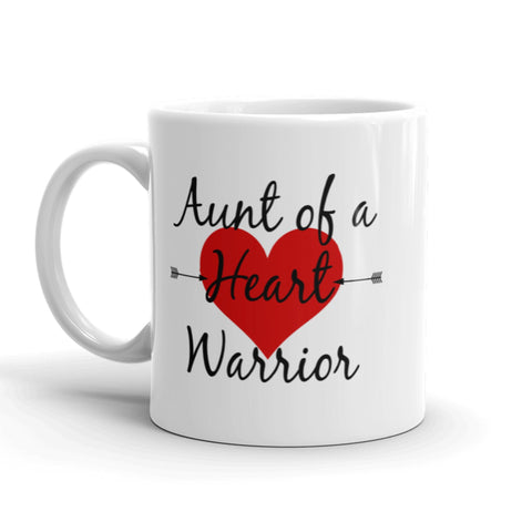 Aunt of a Heart Warrior CHD Heart Defect Coffee Tea Mug - Choose Size