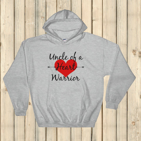 Uncle of a Heart Warrior CHD Heart Defect Hoodie Sweatshirt - Choose Color