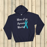 Mom of an Apraxia Warrior Hoodie Sweatshirt - Choose Color