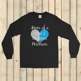 Mom of a Type 1 Diabetes Warrior T1D Unisex Long Sleeved Shirt - Choose Color
