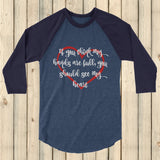 If You Think My Hands Are Full, You Should See My Heart 3/4 Sleeve Unisex Raglan - Choose Color - Sunshine and Spoons Shop