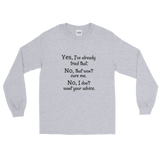 I Don't Want Your Medical Advice Chronic Illness Unisex Long Sleeved Shirt - Choose Color - Sunshine and Spoons Shop