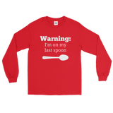 Warning! I'm On My Last Spoon Spoonie Unisex Long Sleeved Shirt - Choose Color - Sunshine and Spoons Shop