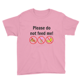 Please Do Not Feed Me Kids' Shirt - Choose Color - Sunshine and Spoons Shop