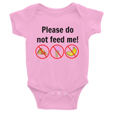 Please Do Not Feed Me Onesie Bodysuit - Choose Color