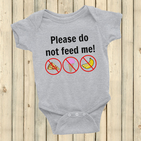 Please Do Not Feed Me Onesie Bodysuit - Choose Color - Sunshine and Spoons Shop