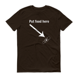 Put Food here G Tube Feeding Tube Unisex Shirt - Choose Color - Sunshine and Spoons Shop
