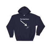 Put Food here G Tube Feeding Tube Hoodie Sweatshirt - Choose Color