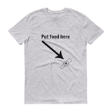 Put Food here G Tube Feeding Tube Unisex Shirt - Choose Color