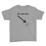 Put Food here G Tube Feeding Tube Kids' Shirt - Choose Color