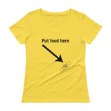 Put Food here G Tube Feeding Tube Scoop Neck Women's Shirt - Choose Color - Sunshine and Spoons Shop