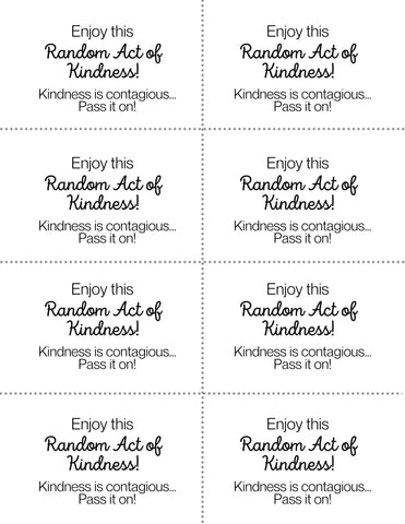 Random Acts of Kindness Cards Free Printable