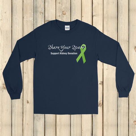 Share Your Spare Kidney Donation Unisex Long Sleeved Shirt - Choose Color