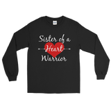 Sister of a Heart Warrior CHD Heart Defect Unisex Long Sleeved Shirt - Choose Color