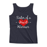 Sister of a Heart Warrior CHD Heart Defect Women's Tank Top - Choose Color