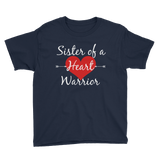 Sister of a Heart Warrior CHD Heart Defect Kids' Shirt - Choose Color
