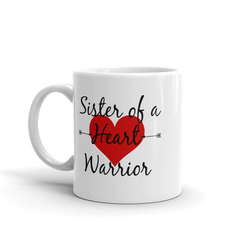 Sister of a Heart Warrior CHD Heart Defect Coffee Tea Mug - Choose Size - Sunshine and Spoons Shop