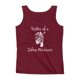 Sister of a Zebra Warrior Rare Disease Ehlers Danlos EDS Women's Tank Top - Choose Color