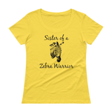 Sister of a Zebra Warrior Rare Disease Ehlers Danlos EDS Scoop Neck Women's Shirt - Choose Color - Sunshine and Spoons Shop