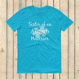 Sister of an Autism Warrior Awareness Puzzle Piece Unisex Shirt - Choose Color - Sunshine and Spoons Shop