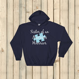 Sister of an Autism Warrior Awareness Puzzle Piece Hoodie Sweatshirt - Choose Color - Sunshine and Spoons Shop