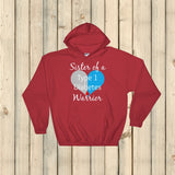 Sister of a Type 1 Diabetes Warrior T1D Hoodie Sweatshirt - Choose Color - Sunshine and Spoons Shop