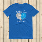 Sister of a Type 1 Diabetes Warrior T1D Unisex Shirt - Choose Color - Sunshine and Spoons Shop