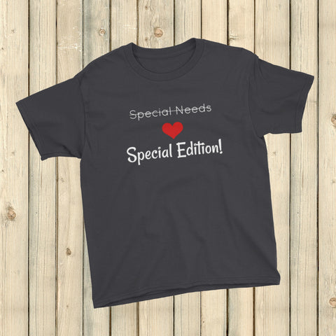 Special Edition, Not Special Needs Kids' Shirt - Choose Color - Sunshine and Spoons Shop