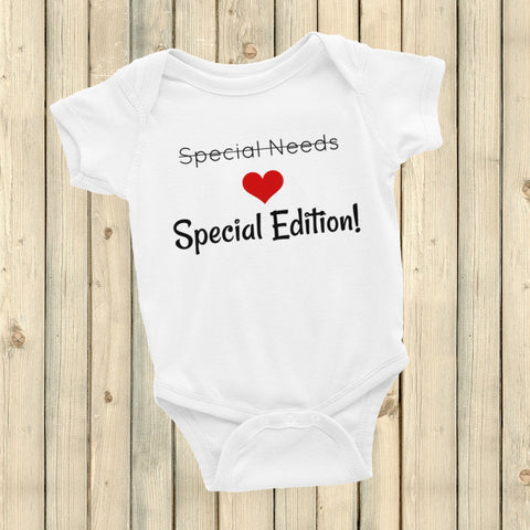 Special Edition, Not Special Needs Onesie Bodysuit - Choose Color