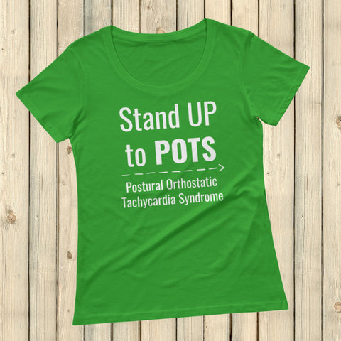 Stand Up to POTS Dysautonomia Awareness Scoop Neck Women's Shirt - Choose Color - Sunshine and Spoons Shop