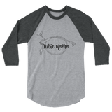 Tubie Mama Supertubie Feeding Tube Mom 3/4 Sleeve Unisex Raglan - Choose Color - Sunshine and Spoons Shop