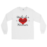 Uncle of a Heart Warrior CHD Heart Defect Unisex Long Sleeved Shirt - Choose Color