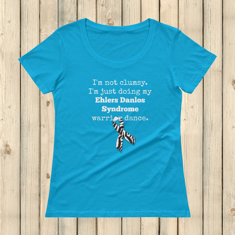 I'm Not Clumsy. This is My EDS Warrior Dance Ehlers Danlos Scoop Neck Women's Shirt - Choose Color