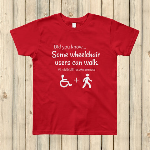 Some Wheelchair Users Can Walk Disability Awareness Kids' Shirt - Choose Color - Sunshine and Spoons Shop