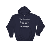 Yes, I Have Autism. No, My Mom Doesn't Want Your Advice Hoodie Sweatshirt - Choose Color - Sunshine and Spoons Shop
