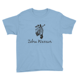 I Am a Zebra Warrior Rare Disease Ehlers Danlos EDS Kids' Shirt - Choose Color - Sunshine and Spoons Shop