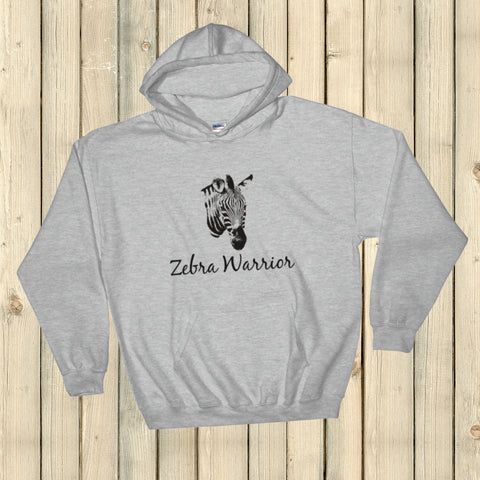 I Am a Zebra Warrior Rare Disease Ehlers Danlos EDS Hoodie Sweatshirt - Choose Color - Sunshine and Spoons Shop