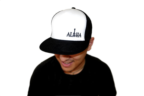 #ALXALOHA Trucker Hat - Black/White