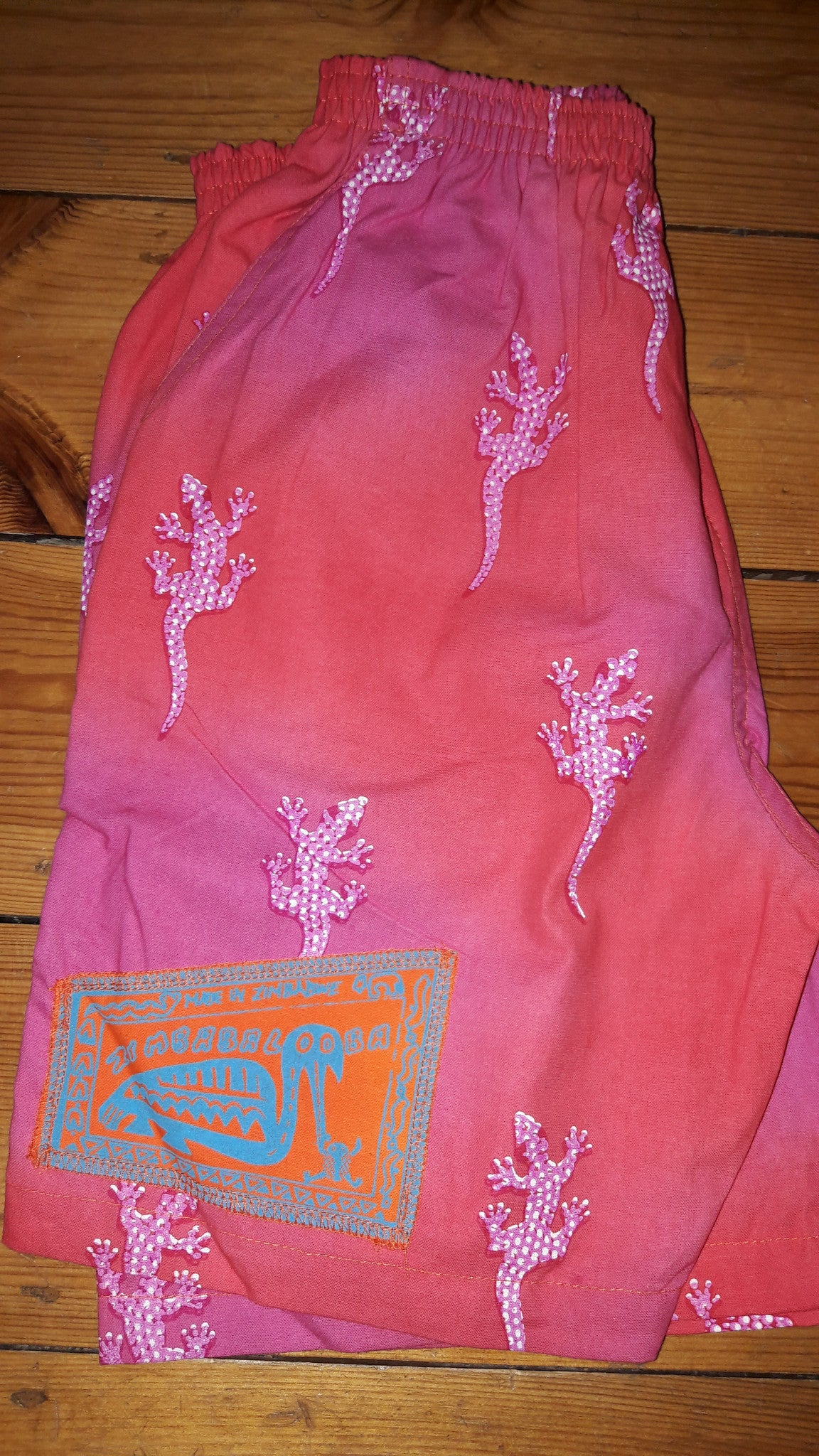 Kid's Shorts - Gecko print - 100% Cotton Baggies