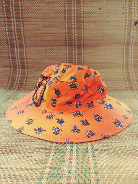 Sun Hat - Bee print - Reversible Designs