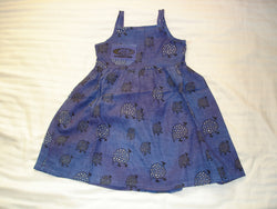 Girls Sun Dress - Ethnic Guinea Fowl Design