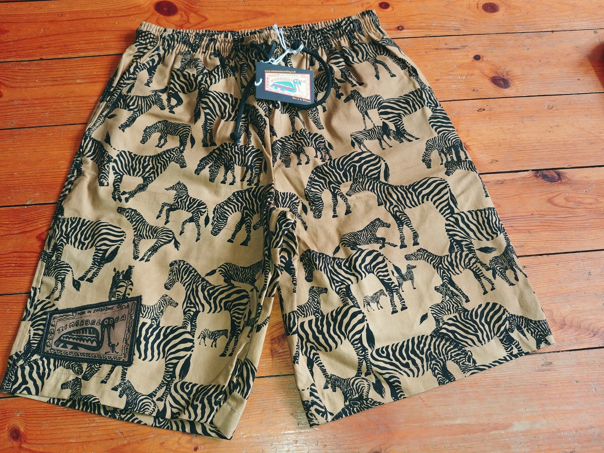 Adult Baggies / Shorts - Zebra Design